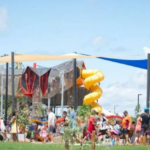 Families Enjoying With their kids in Play Area