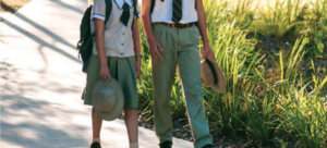 Students Walking In Day with there hats