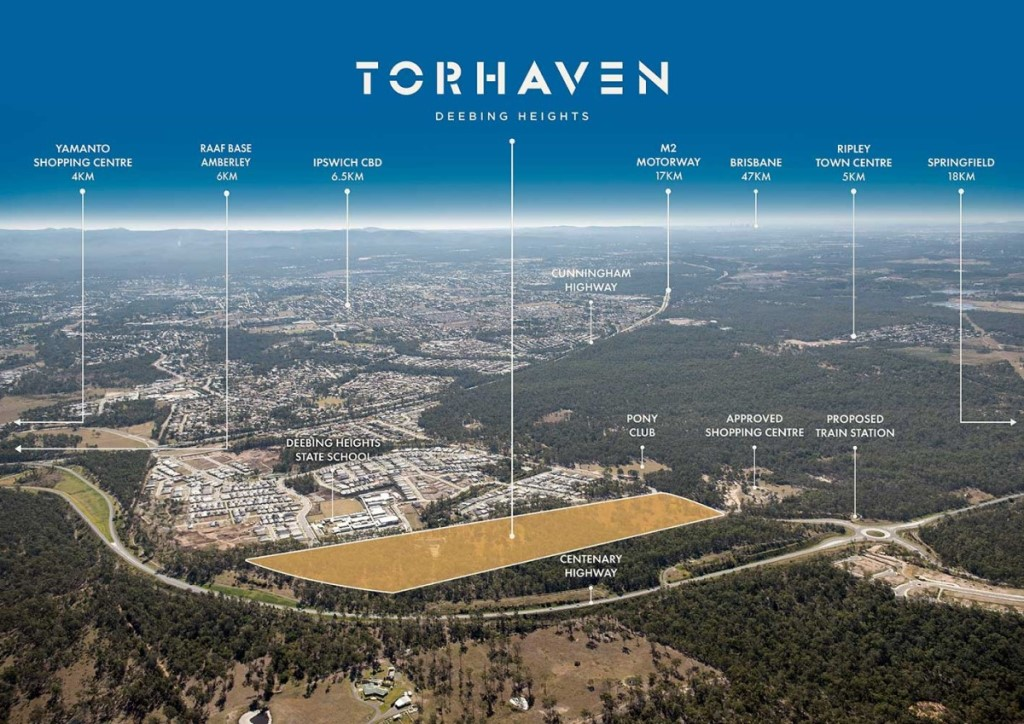 Torhaven aerial map